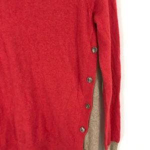 J. Crew Sweaters - J. Crew Side Button Sweater pullover wool blend